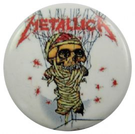 Metallica - 'One White' Button Badge
